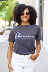 Charcoal - Dreamer Graphic Tee from Dress Up