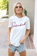 Ivory - Sisterhood Graphic Tee from Dress Up