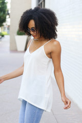 Oversized Tank in White Side View