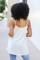 Oversized Tank in White Back View
