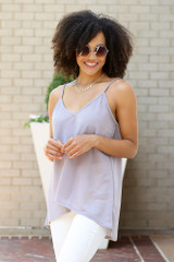 Oversized Tank in Grey Front View