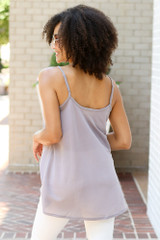 Oversized Tank in Grey Back View