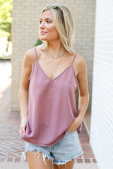 Oversized Tank in Blush Front View