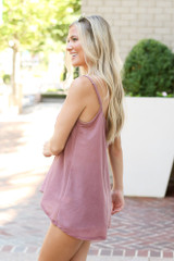 Oversized Tank in Blush Side View