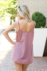 Oversized Tank in Blush Back View