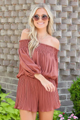 Smocked Pleated Romper from Dress Up