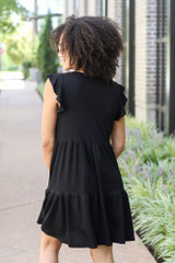 Tiered Babydoll Dress Back View