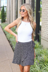 Black - Spotted Wrap Skirt from Dress Up