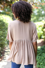 Textured Babydoll Top Back View