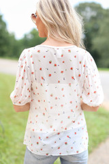 Mesh Floral Babydoll Top Back View