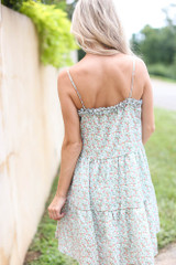 Tiered Floral Dress Back View