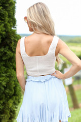 Smocked Cropped Tank Back View