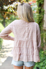 Tiered Floral Blouse Back View