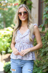 Floral Babydoll Tank Front View