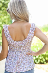 Floral Babydoll Tank Back View