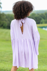 Bell Sleeve Babydoll Dress Back View