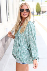 Floral Babydoll Blouse Side View