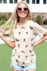 Model wearing a Dog Graphic Tee