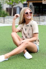 Dress Up model wearing a Dog Graphic Tee