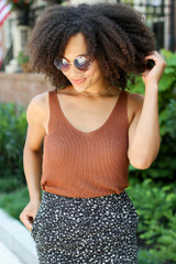 Brown - Sweater Tank from Dress Up