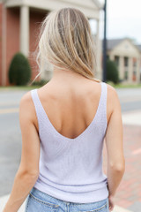 Sweater Tank in Lilac Back View
