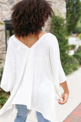 Oversized Tunic in Ivory Back View