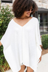 Oversized Tunic in Ivory Front View