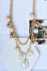 Flat Lay of statement necklace
