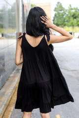 Tiered Tie-Strap Dress Back View