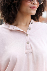 Blush - Oversized Henley Top from Dress Up