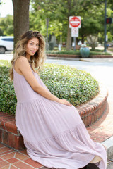 Mauve - Tiered Maxi Dress from Dress Up