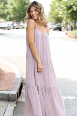 Tiered Maxi Dress Side View