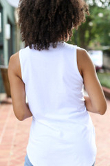 Front Pocket Tank in White Back View