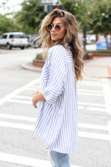 Striped Oversized Blouse Side View
