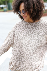Close Up of an Oversized Leopard Top