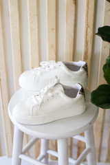 Crocodile Platform Sneakers Side View
