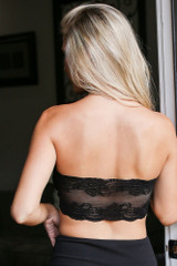 Black - Lace Back Bandaeu from Dress Up