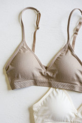 Taupe - Flat Lay of a Padded Bralette