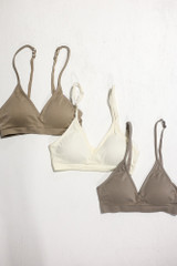 Flat Lay of all 3 of the Padded Bralettes