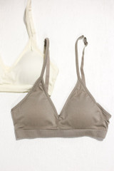 Heather Grey - Close Up of a Padded Bralette