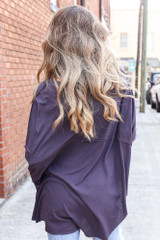 Oversized Top in Grey Side View
