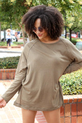 Olive - Oversized Top