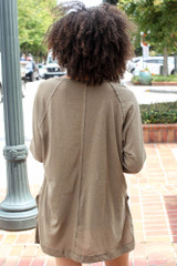 Oversized Top in Olive Back View