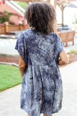 Tie-Dye Babydoll Dress Back View