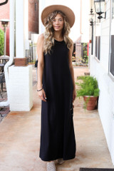 Black - Sleeveless Maxi Dress