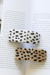 Flat Lay of both colors of the Spotted Hair Clips