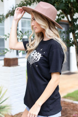 Oversized Graphic Tee Side View