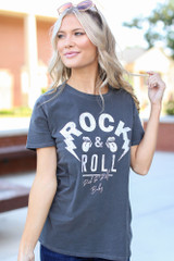 Charcoal - Rock & Roll Graphic Tee