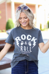 Charcoal - Rock & Roll Graphic Tee from Dress Up