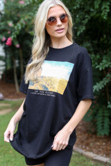 Desert Oversized Graphic Tee Front View
